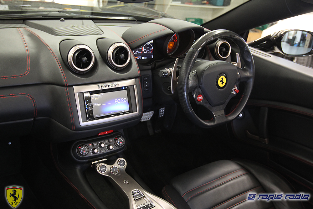 Rapid Radio Ferrari California Audio Upgrade